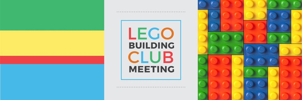Lego Building Club Meeting Constructor Bricks | Twitter Header Template — Créer un visuel
