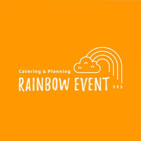 Event Agency with Cloud and Rainbow Logo Modelo de Design