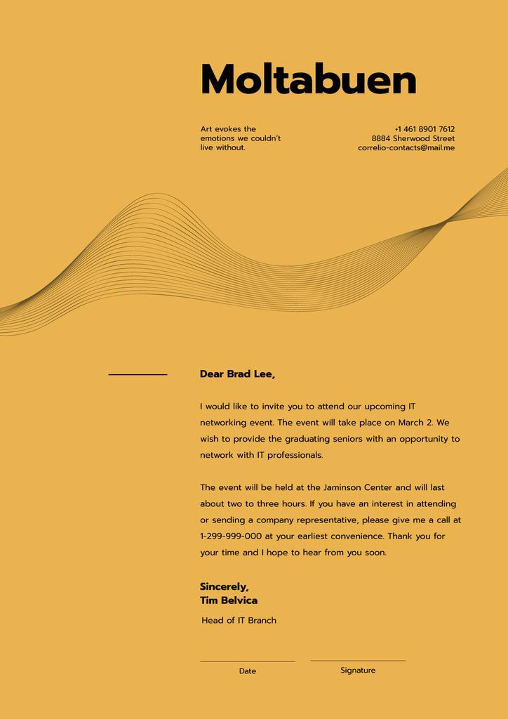 IT networking event announcement — Crea un design