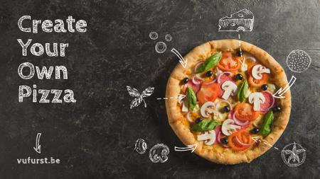 Plantilla de diseño de Italian Pizza menu promotion Full HD video