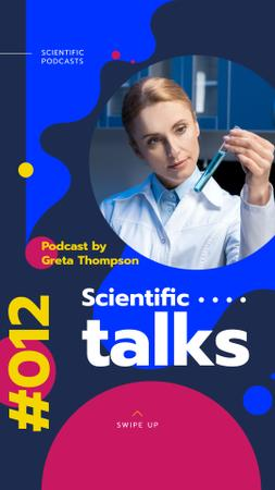 Template di design Female Scientist Working with Test Tube Instagram Story