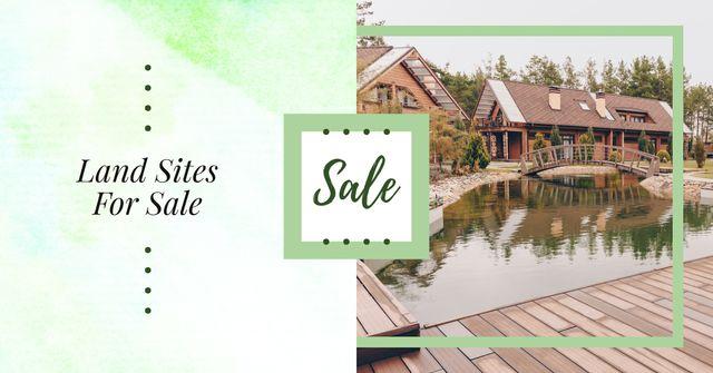 Plantilla de diseño de Modern houses with swimming pool Facebook AD