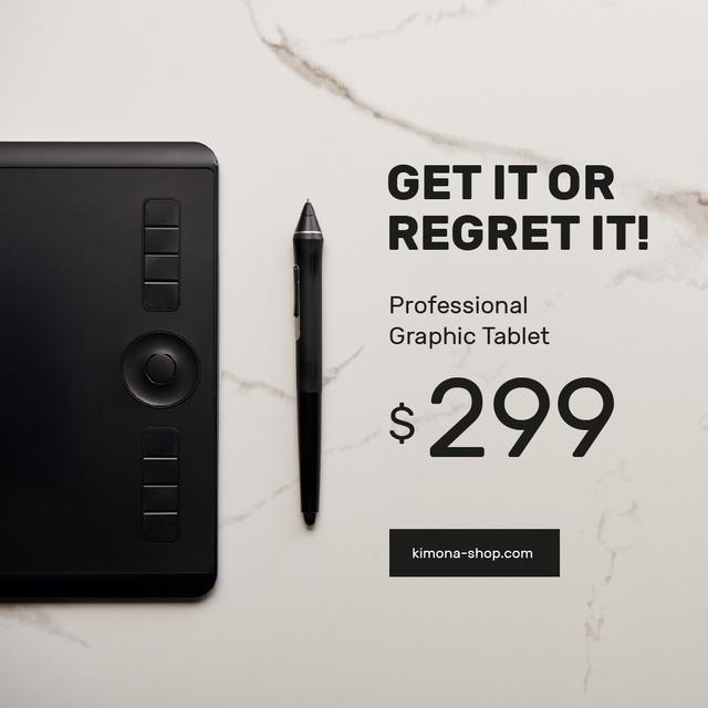 Ontwerpsjabloon van Instagram van Business Graphic Tablet Ad