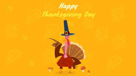 Turkey in Pilgrim hat Full HD video Modelo de Design