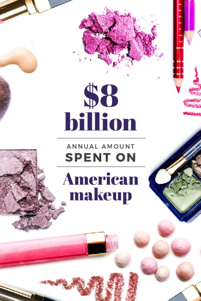 Makeup statistics with cosmetic products — Створити дизайн