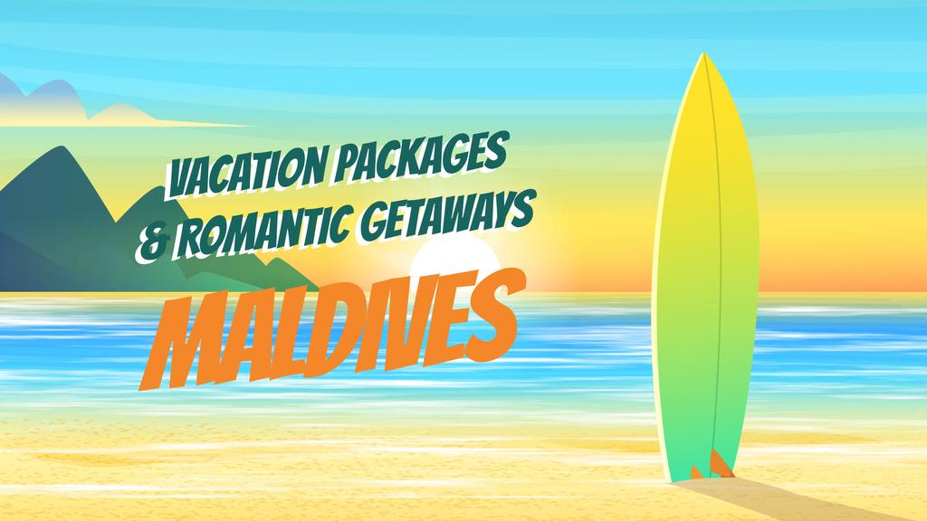 Surfboard on sea beach — Створити дизайн