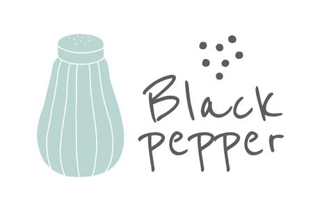 Modèle de visuel Black Pepper brand promotion - Label