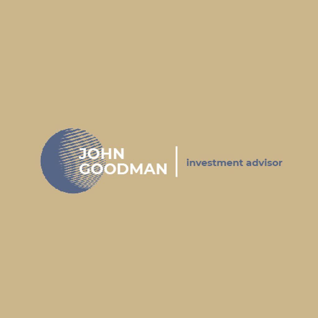 Investment Company Ad with Globe Icon in Blue — Modelo de projeto