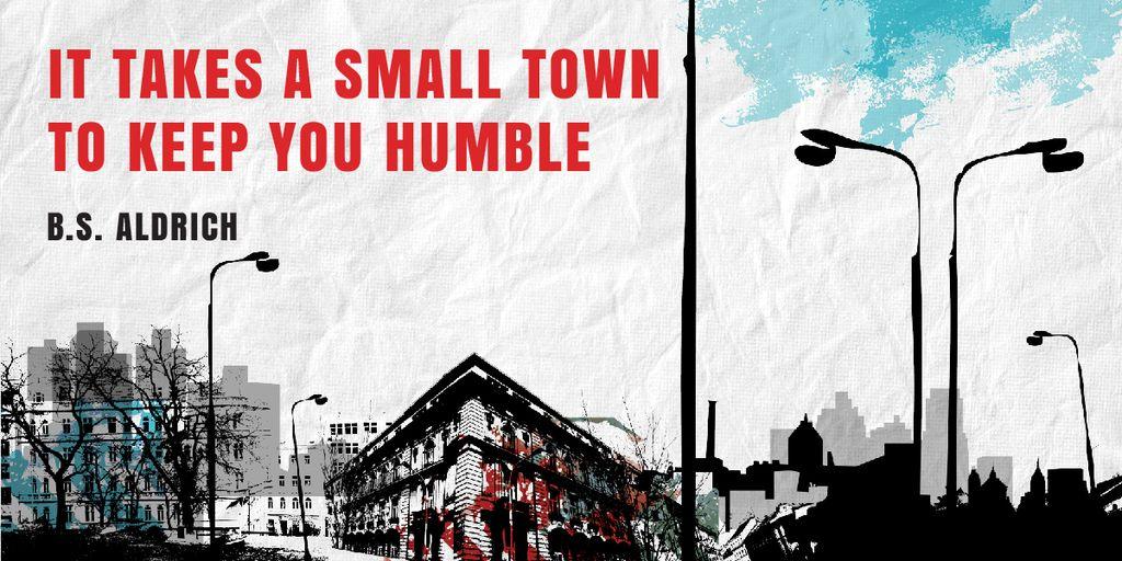 Citation about small town — Создать дизайн