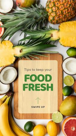 Szablon projektu Tips to keep Food fresh Instagram Story