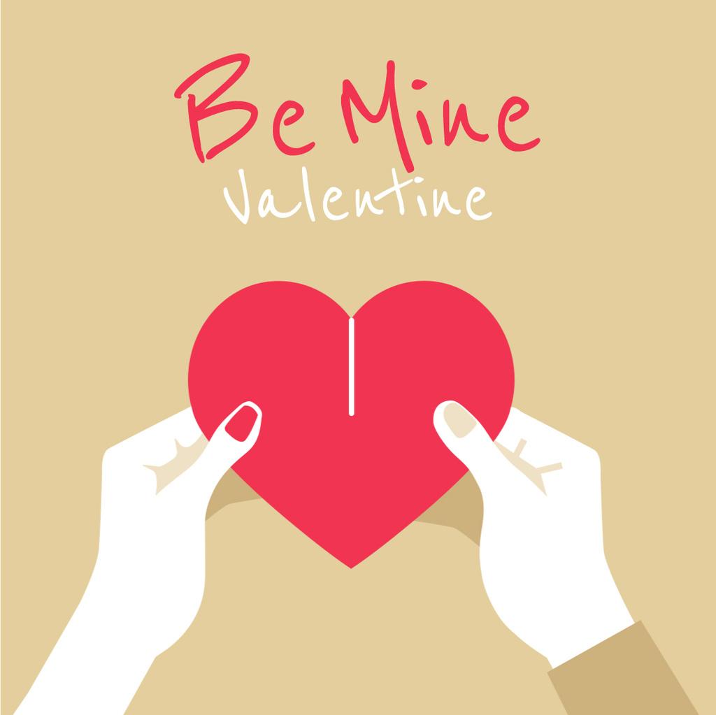 Couple connecting Valentine's Day Heart  — Maak een ontwerp