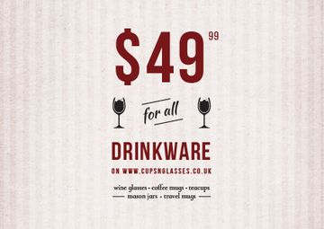 Drinkware Sale Offer