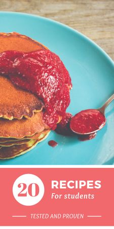 Plantilla de diseño de Recipes for students with Pancakes Graphic