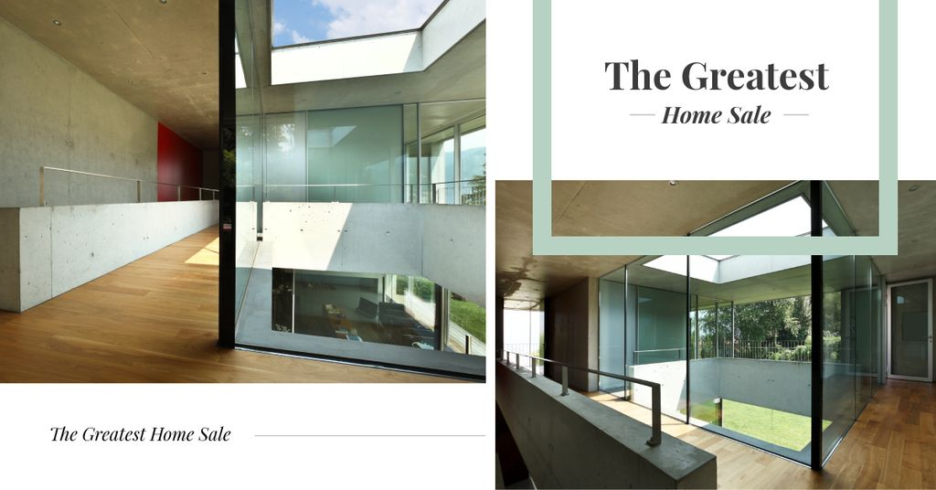 Modern house interior and facade — Maak een ontwerp