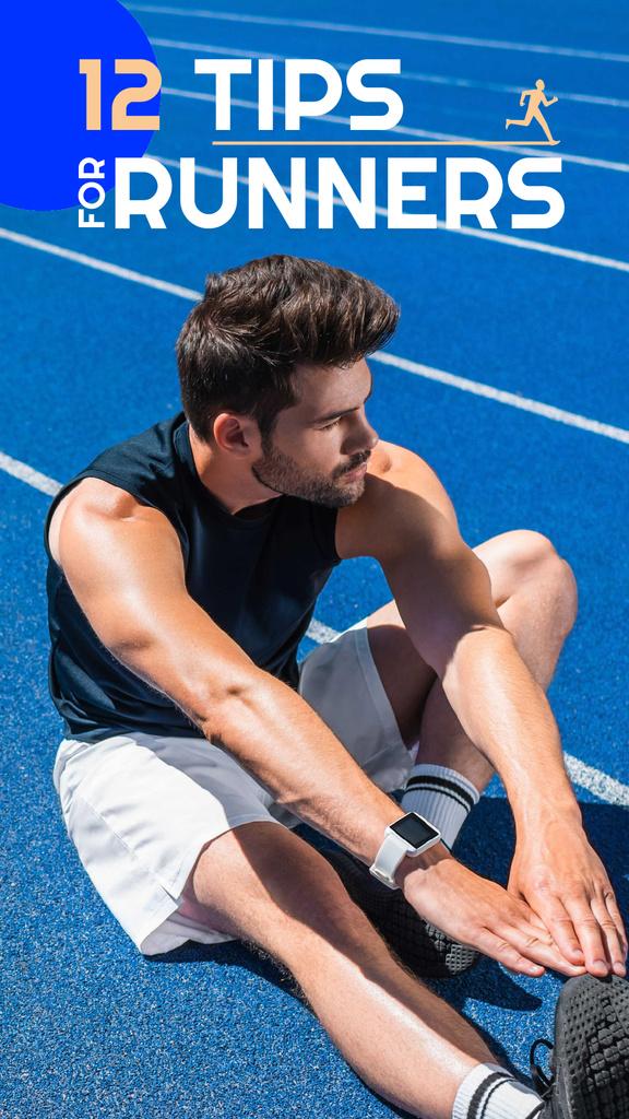 Man Training in the Stadium — Créer un visuel