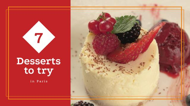 Template di design Bakery Promotion Sweet Cake with Berries Full HD video