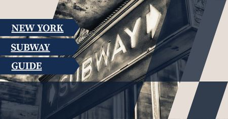New York subway guide Facebook AD Modelo de Design