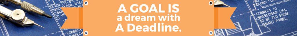Goal Motivational Quote Blueprints and Compass — Modelo de projeto
