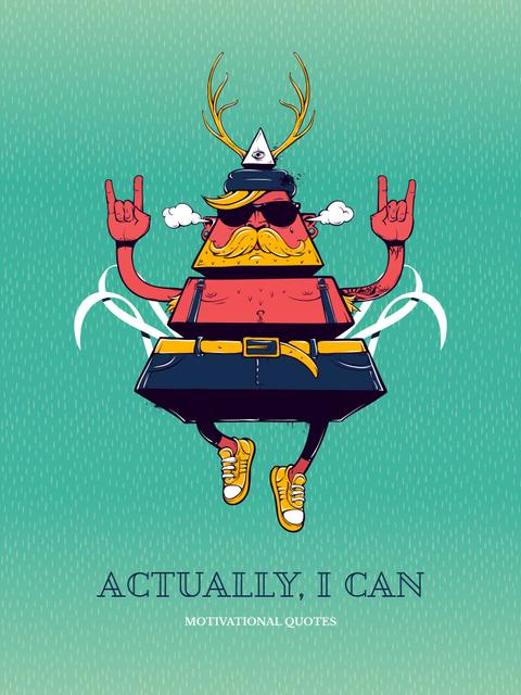 Inspirational Quote with Triangle Hipster Bizarre Character Poster US Modelo de Design