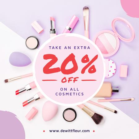 Modèle de visuel Makeup cosmetics set Offer - Instagram