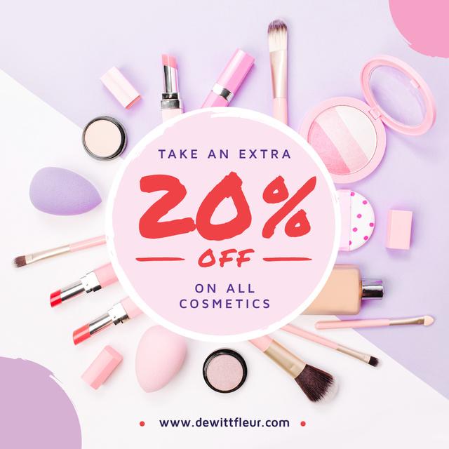 Plantilla de diseño de Makeup cosmetics set Offer Instagram