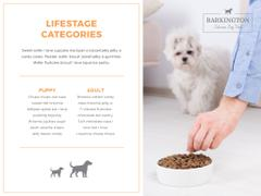 Delicious dog food with Cute Puppy