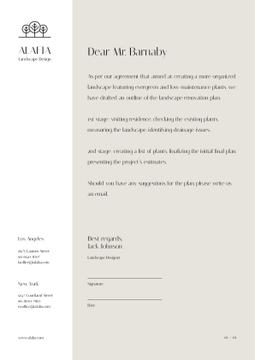 Landscape Design Agency agreement