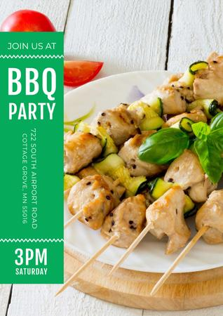 Template di design BBQ party Invitation Poster