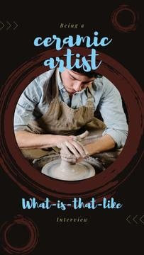 Hands of potter creating bowl