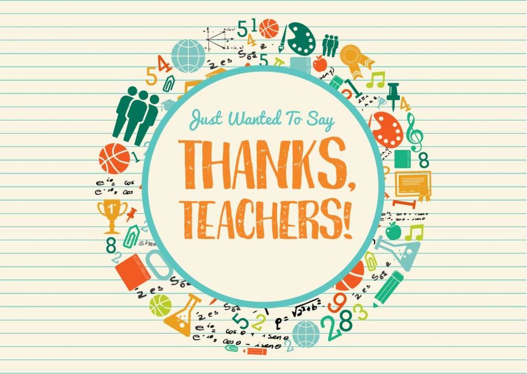 Thanks Teachers card — Crea un design