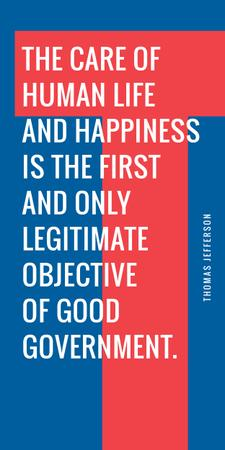 Plantilla de diseño de Government Quote on blue and red Graphic