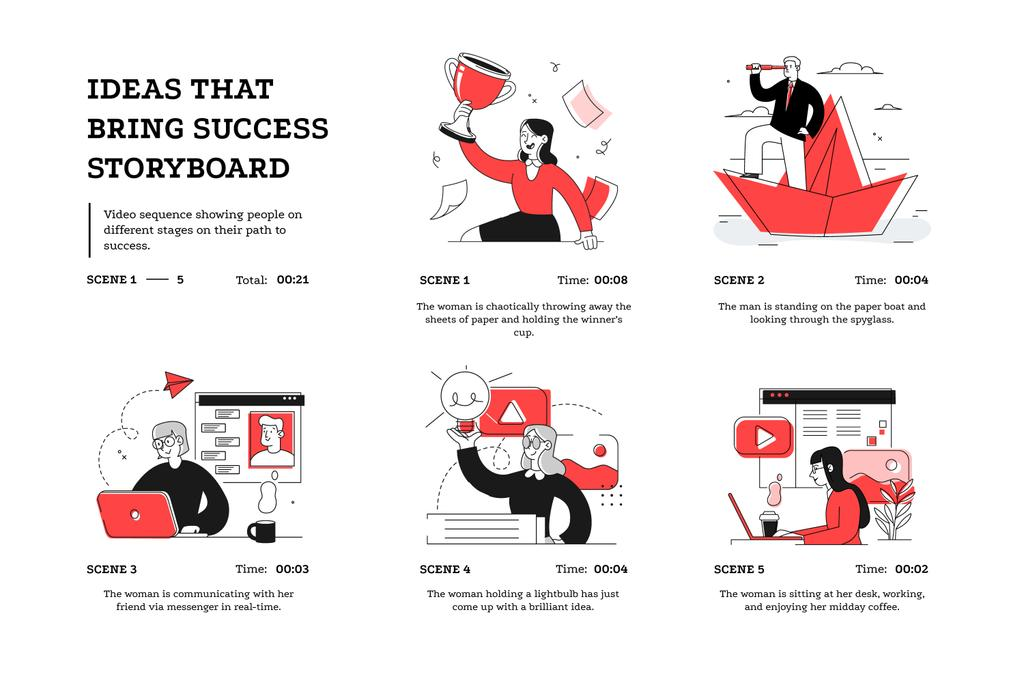 Successful Business People working on projects — Maak een ontwerp