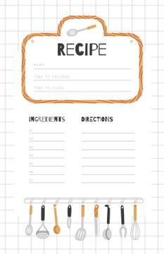 Kitchen Tools illustration in Squared notebook