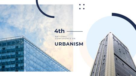 Urbanism Conference Advertisement with Modern Skyscrapers Youtube Modelo de Design