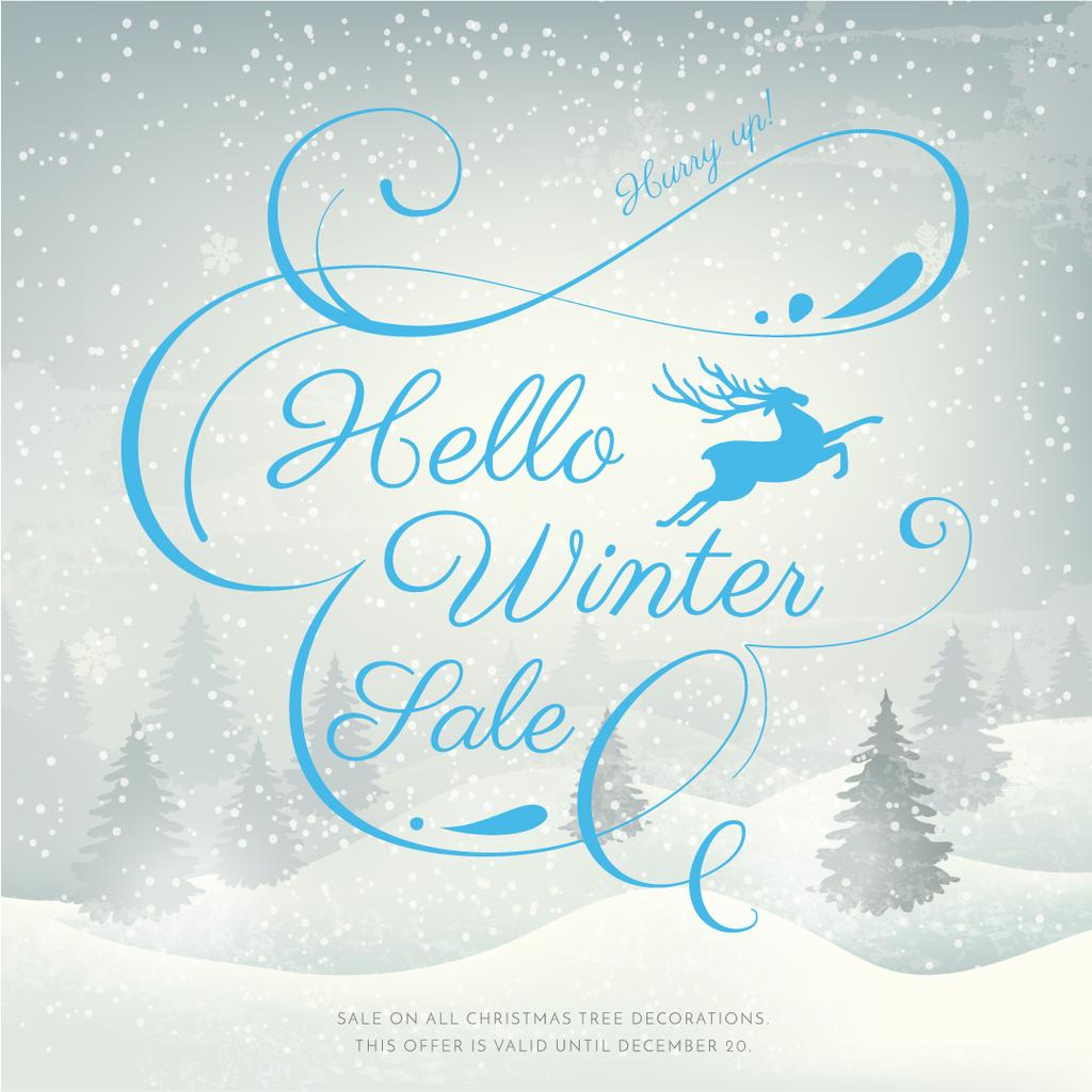 Hello winter sale poster — Crea un design