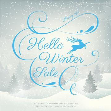 Hello winter sale poster