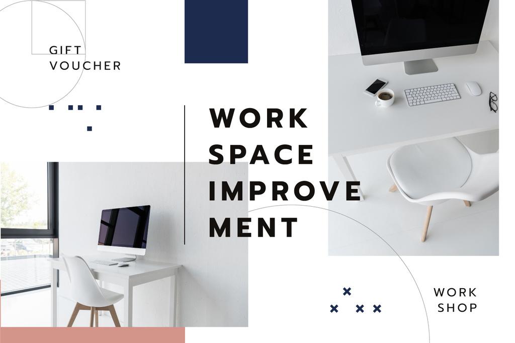 Interior Design Workshop Offer Workspace in White — Create a Design