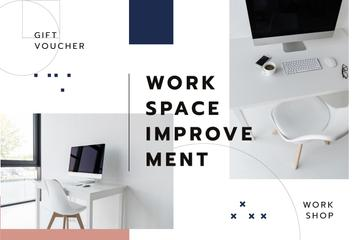 Interior Design Workshop Offer Workspace in White