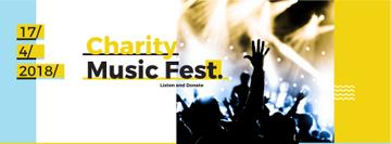 Music Fest Invitation Crowd at Concert | Facebook Cover Template