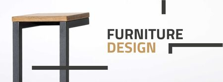 Ontwerpsjabloon van Facebook cover van Furniture Design Offer with Modern Chair
