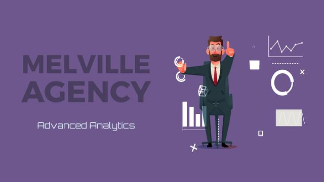 Ontwerpsjabloon van Full HD video van Businessman using analytics tools on smart screen