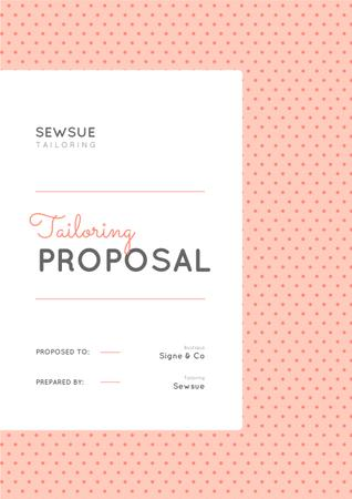 Plantilla de diseño de Sewing Atelier service in pink Proposal