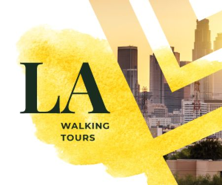 Designvorlage Los Angeles City Tour Promotion für Medium Rectangle