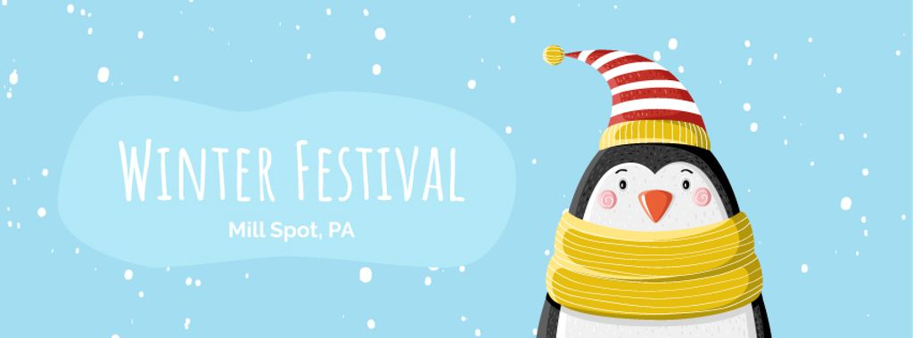 Cute winter penguin in hat — Maak een ontwerp