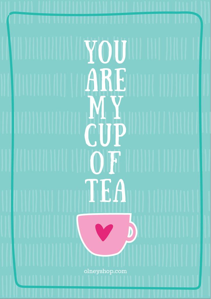 Cup of tea card — ein Design erstellen