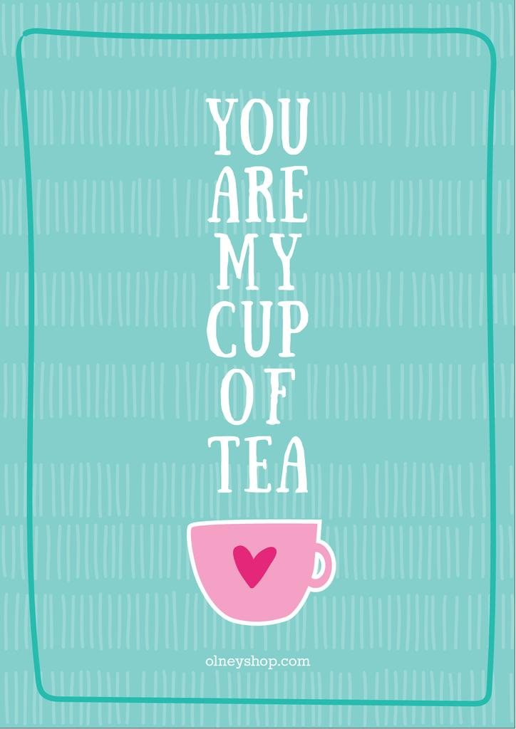 Love Quote Cup of Tea in Blue — Create a Design