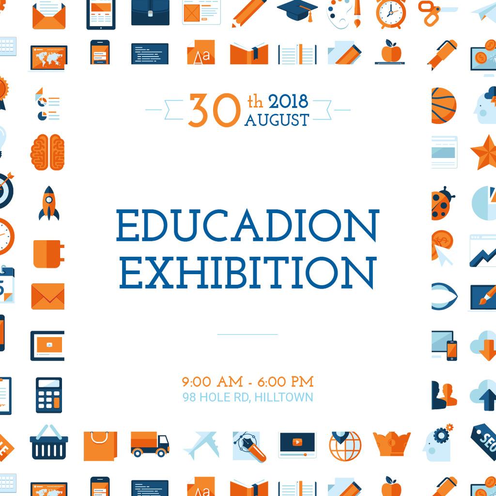 Education exhibition announcement — Crea un design