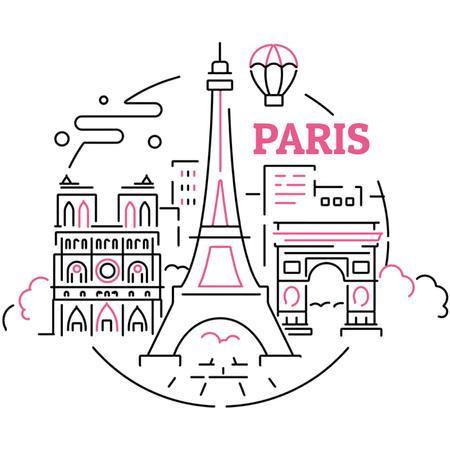 Paris famous Travelling spots Animated Post Modelo de Design