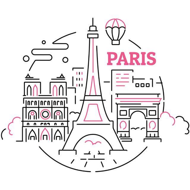 Paris famous Travelling spots Animated Post – шаблон для дизайна