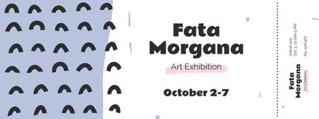 Plantilla de diseño de Art Exhibition with Waves illustration Ticket